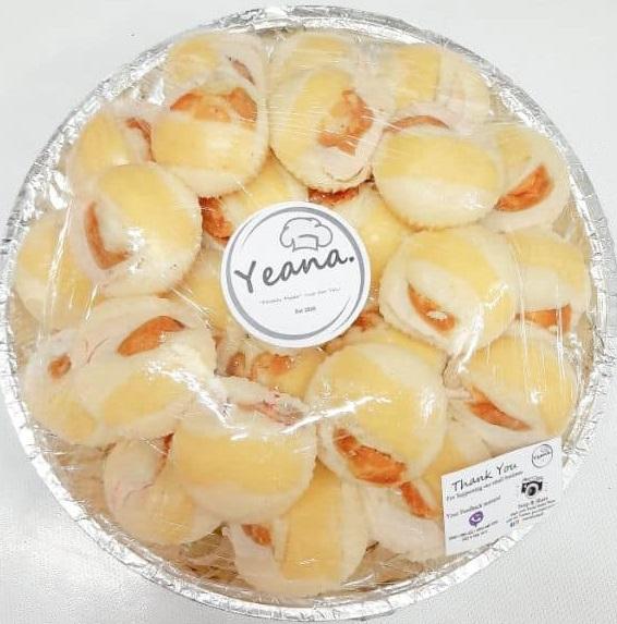 Cheesy puto with Salted Egg, regular, 50 pcs