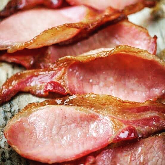 Smoked thinly sliced bacon, 500g